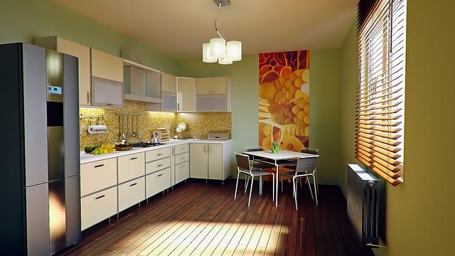 współczesna kolorowa kuchnia