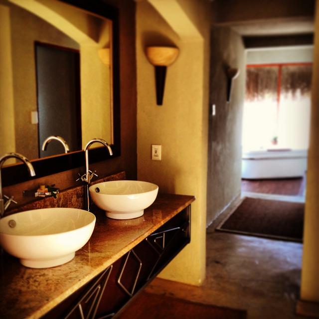 Łazienka w stylu afrykańskim